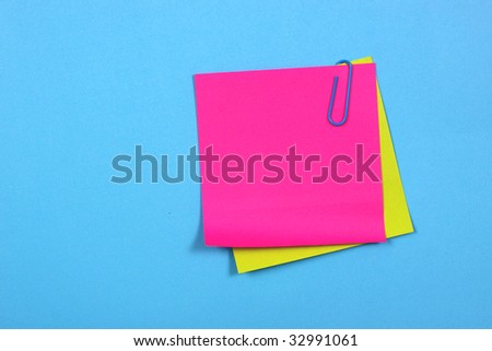 Color  clips with color note papers