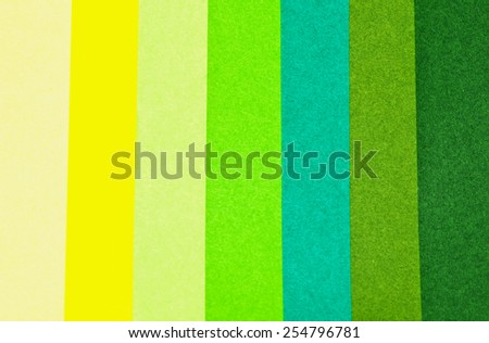 color depth green paper color - stock photo