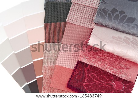 color design selection for interior - stock photo