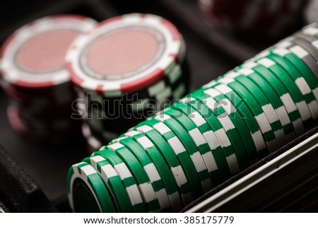Color detail image of some poker chips.