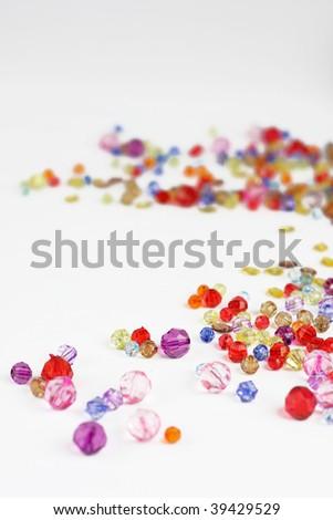 color diamond style luxury crystal balls - stock photo