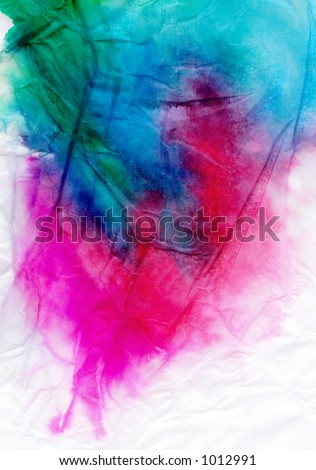color-drenched tissue paper - stock photo
