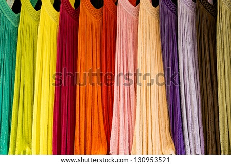 color dress collection - stock photo