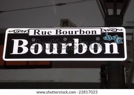 Bourbon Street Sign Lamp