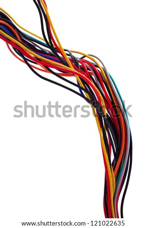 color electric cable, Wires - stock photo