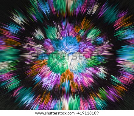 color extrusion blocks and pyramids abstract colorful 3D extrusion background flowers, floral pattern extrusion color gradient for background and texture,   flower   clothing design, photo wallpapers,