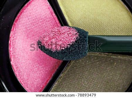 color eyeshadows - stock photo