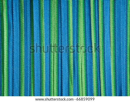 color fabric in a row - stock photo