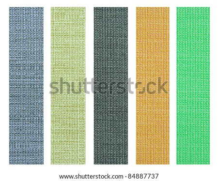 color fabric texture sample for interior design