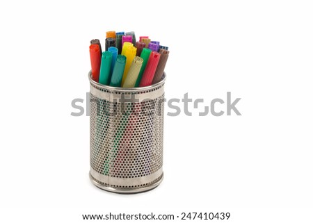 Color felt-tip pens - stock photo