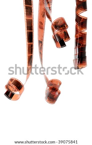 Color films with family photos hanging after processing - stock photo