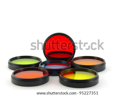 Color filters for lenses over white