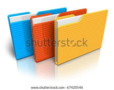 Color folders - stock photo