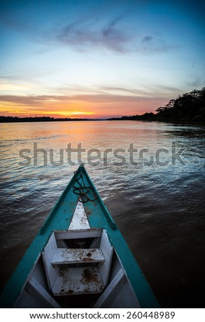 Color full sunset in amazon