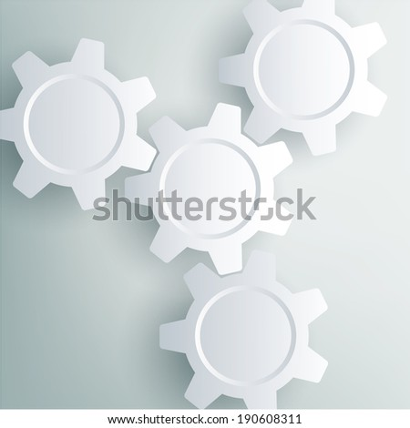 Color Gears Info-graphics Number Options Banner - stock photo