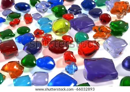 Color gemstones - stock photo