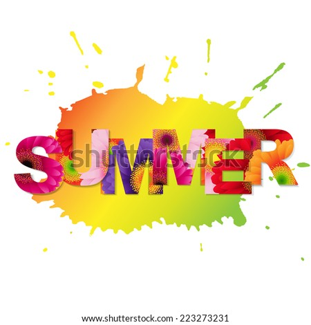 Color Gerbers Summer Poster - stock photo