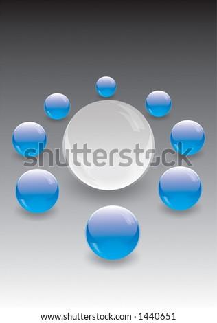 Color glass balls - stock photo