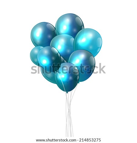 Color Glossy Balloons Background  Illustration.