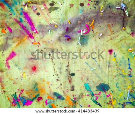 Color graffiti paint on the canvas. - stock photo