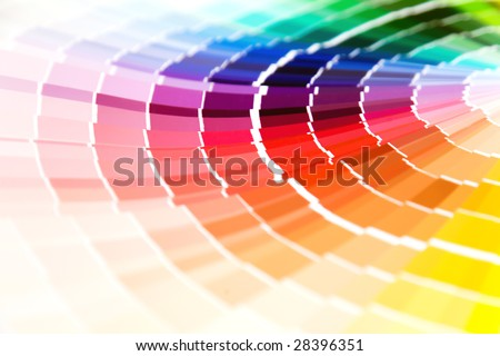 color guide close-up - stock photo