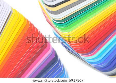 color guide, close-up shot, shallow depth of field - stock photo