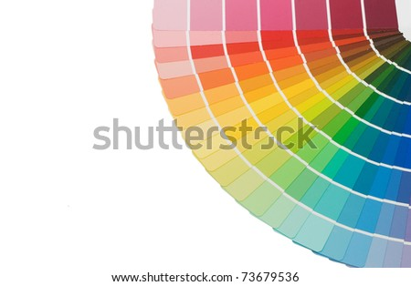 Color guide for selection isolated on white background - stock photo