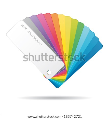 Color guide icon. - stock photo