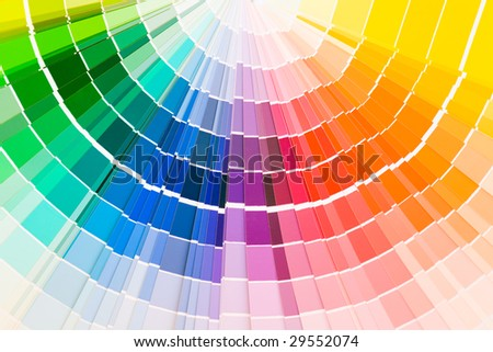 Color guide samples - stock photo