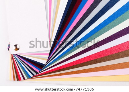 Color guide samples close up - stock photo