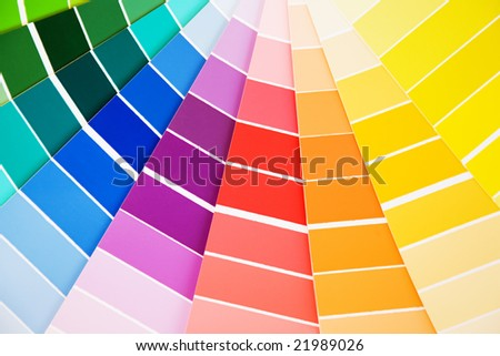 Color guide samples pantone close-up - stock photo