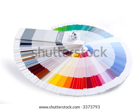 Color guide to match colors for printing - stock photo