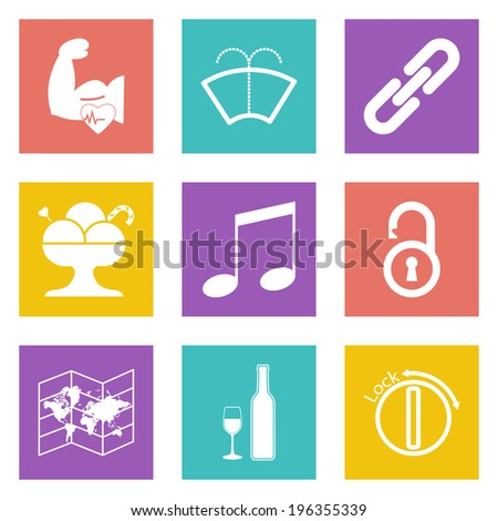 Color icons for Web Design and Mobile Applications set 48.  - stock photo