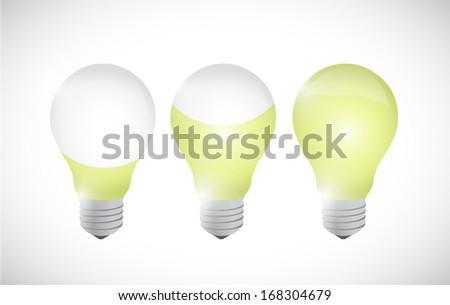 color idea light bulb illustration design over a white background - stock photo