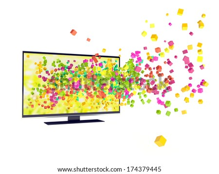 color in TV - stock photo