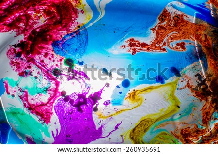 Color in water - stock photo