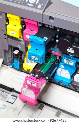 Color Laser Printer refill - stock photo