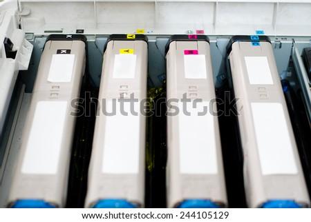 color laser printer toner - stock photo