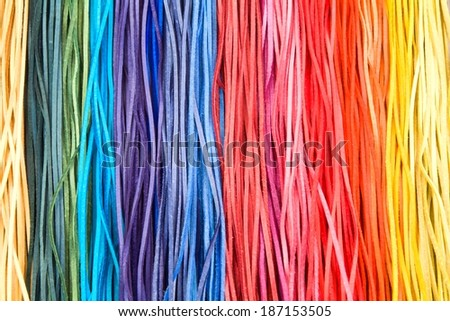 Color leather stripes - nice background - stock photo