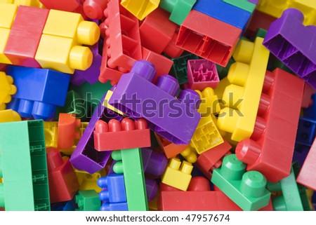 Color lego background - stock photo