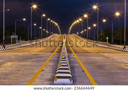 color light bridge - stock photo