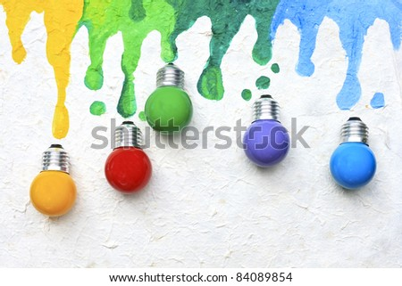 Color light bulb - stock photo
