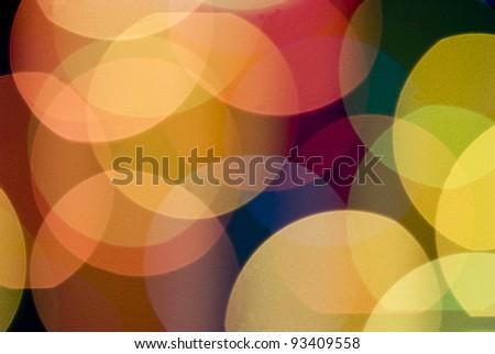 Color lights blur background - stock photo