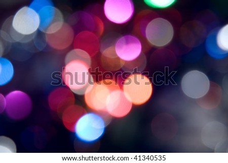 Color lights out of focus