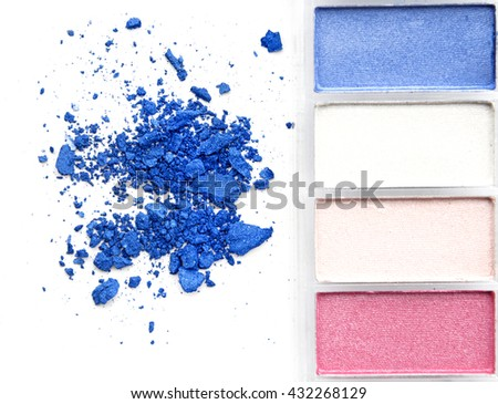Color make-up. isolated on white background - stock photo