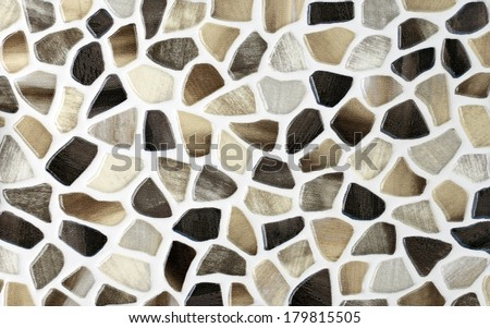 color marble textures, mosaic tiles collage - stock photo