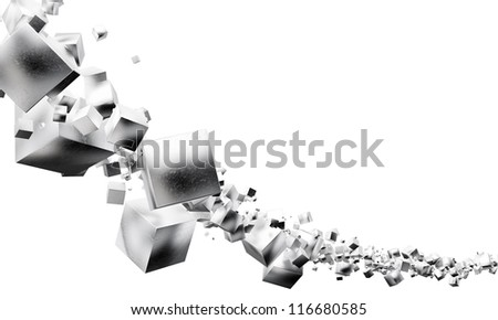 color metal color cubes abstract background