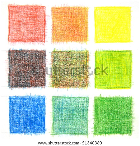 Color mix background, pencils - stock photo