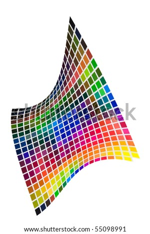Color mixing guide - stock photo