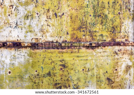 Color mottled paint weathering mosaic iron rust dirty close-up